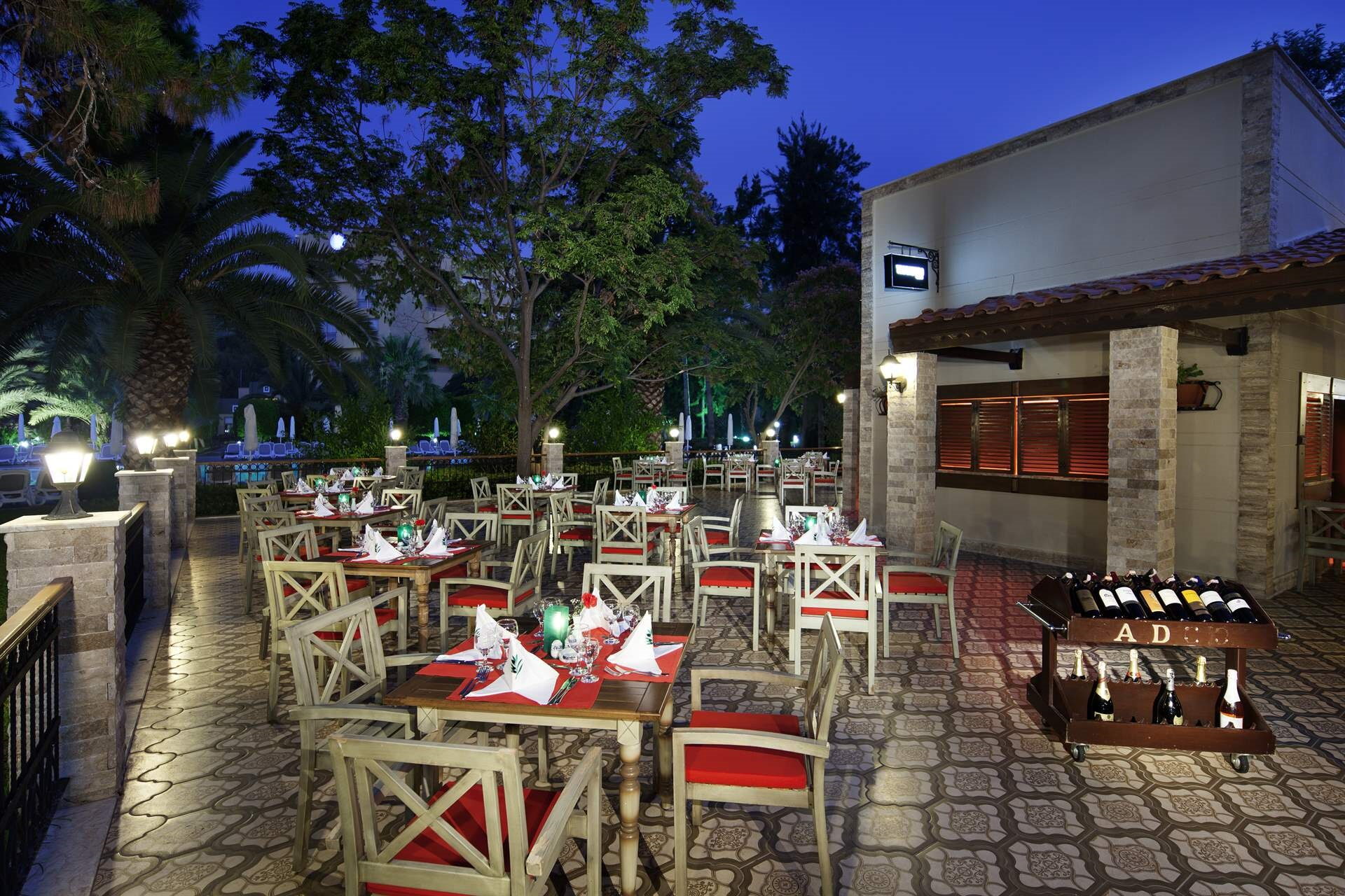 We bring the cuisine of Italy to your table with Meditarranean garden view.