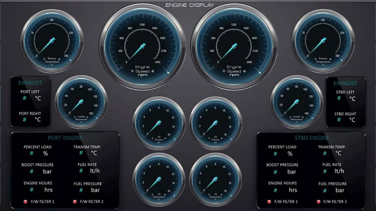 Automation system and scada for yachts and ships
